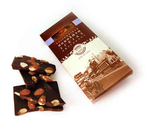 Dark chocolate 63% with almonds (handmade) / only seasonal product-Oct. to March